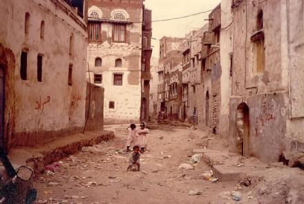 Sana'a street in Yemen. Image from Flickr, courtesy of Ahron De Leeuw.