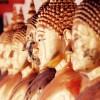 Gold Buddhist statues