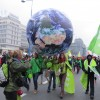 Climate protest, courtesy of Oxfam International